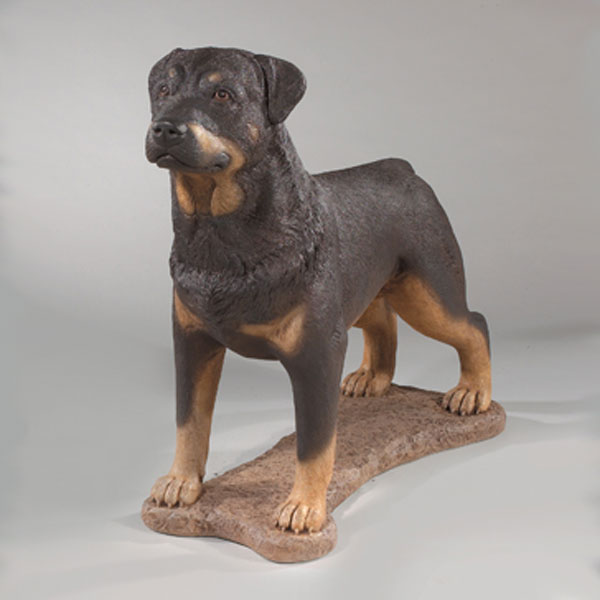 rottweiler statue 30 5 stone dog statue. Black Bedroom Furniture Sets. Home Design Ideas