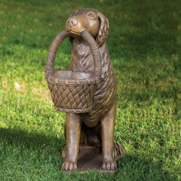 Retriever with Basket statue