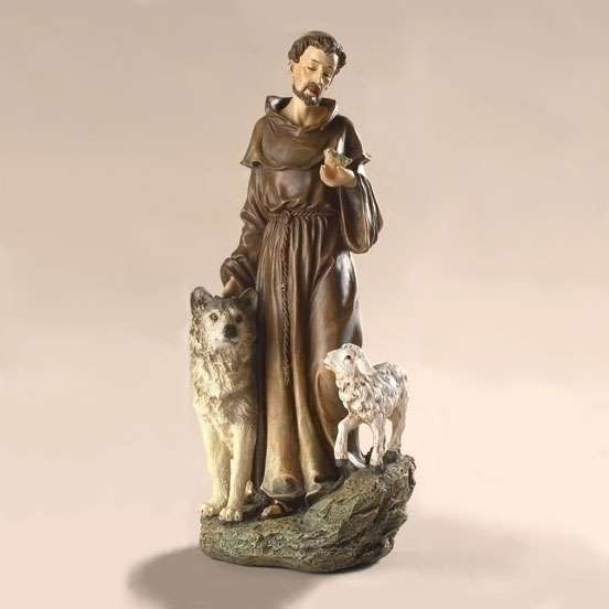 Saint Francis with Wolf