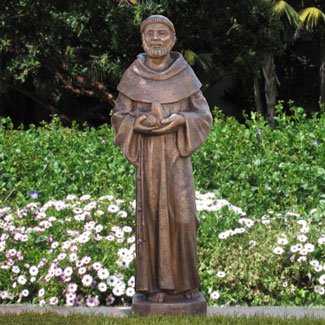 St. Francis with Dove Fine Stone Statue