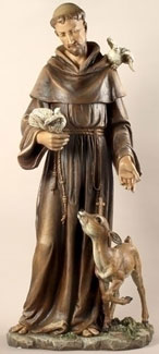 "Saint Francis with Doves by Joseph's Studio 36""H"