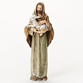 Shepherd with Lamb Statue