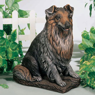"Shelty Dog Garden Statue 20""H"