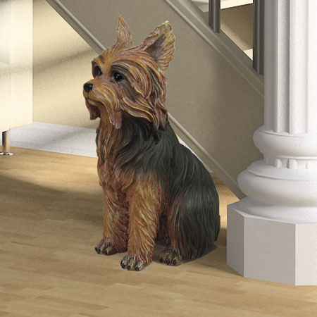 "Yorkshire Terrier Dog Statue 11""H"