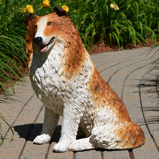 Collie Dog Statue