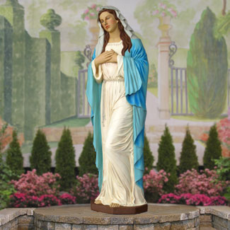 "Life Size Virgin Mary Statue 66""H"