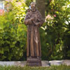 "View: St. Francis - Fine Stone Statue 17""H Classic Iron"
