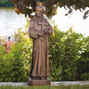 St. Francis with Cross Fine Stone Statue