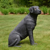 "View: Life Size Sitting Black Labrador Dog 32""H"