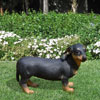 "View: Life Size Dachshund Statue 15.4""H"