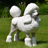 "View: Life Size White Poodle Statue 23""H"