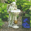 "View: Solar powered Angel with Birdbath 23""H"