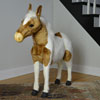 "View: Life Size Plush Shetland Pony 39""H Ride-on"