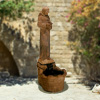 "View: Saint Francis Fountain 42"" Cast Stone"