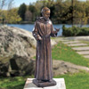 "View: Saint Francis 31""H - Brass with Bronze Finish"
