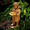 "View: Boy with Yellow Hat Bird Bath 30""H"