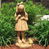 "View: Girl with Bullfrog Bird Bath 30""H"