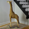"View: Large Plush Giraffe 44""H Ride-on"