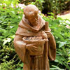 "St. Francis with Flower Pot Feeder 34""H"