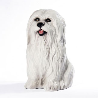 Ceramic Maltese Dog