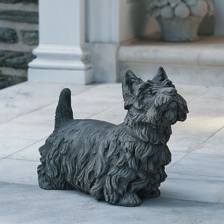 Scottish Terrier Cast Stone Statue