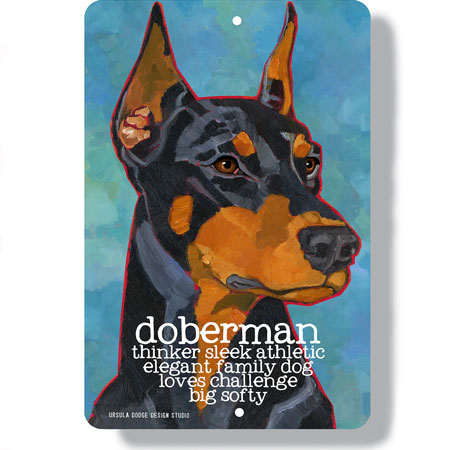 Doberman dog with cropped ears